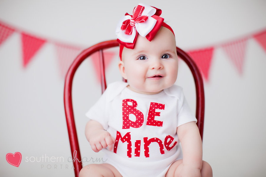 Happy valentines day knoxville tennessee baby photographers southern charm portraits