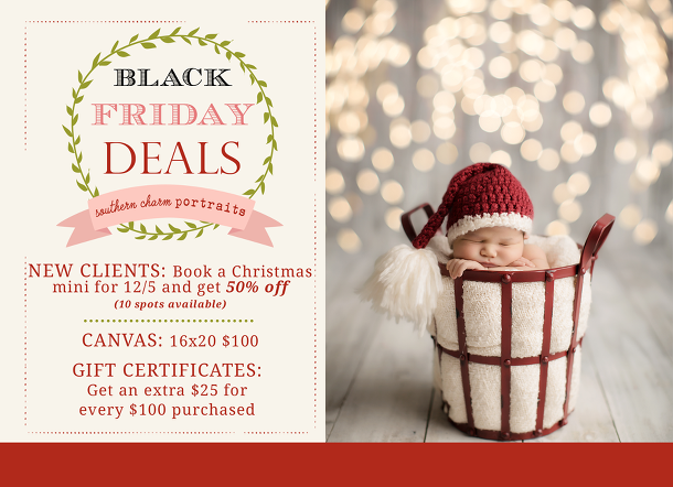 Black friday deals knoxville baby photographer